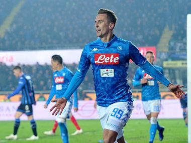 Serie A: Napoli ride on super sub Arkadiusz Milik's late winner to beat Atalanta, close gap on leaders Juventus to eight points