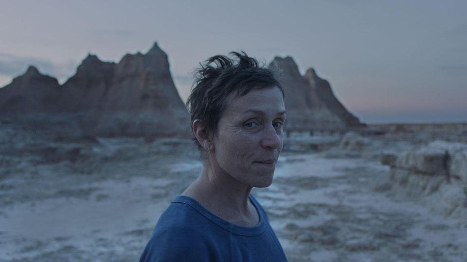 <p>There's so much warmth emanating from Chloe Zhao's third feature, you might just find the comfort 2020's been short on. Frances McDormand plays Fern, an endearing yet taciturn widow on a journey across the American West in a van she's converted into a home. On her travels, Fern meets an assortment of friendly faces in the nomad community who guide, advise and offer camaraderie. Again, Zhao makes use of non-actors to bring a naturalistic approach to the film, and their heartfelt authenticity is keenly felt. </p><p>Soft lighting adds an ethereal journey to Fern's wandering, with sweeping vistas of America's countryside and deserts providing a gorgeous backdrop. McDormand's performance is understated but quivers with meaning as it underscores the struggle for Americans to survive in an economy not built for everyone. It's a breathtaking, truth-speaking piece of cinema that should be an awards season contender for Zhao and her leading lady.</p>