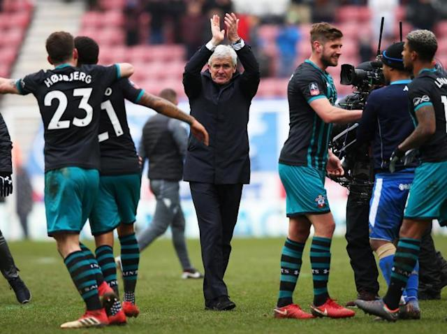 Mark Hughes says Premier League survival is Southampton's 'huge concern' despite reaching FA Cup semi-finals