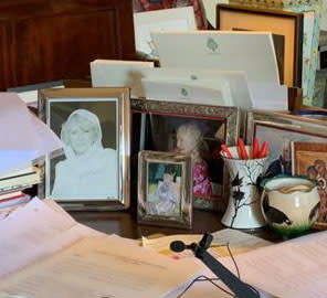 Camilla and the Queen Mother are on his desk. (Clarence House/Global)
