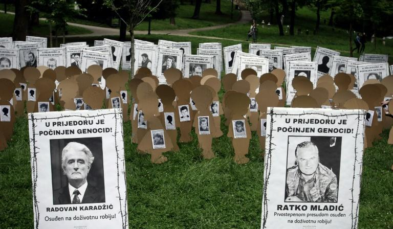 Mladic and Karadzic are depicted as anything but heroes at this installation in Prijedor commemorating victims of the ethnic cleansing