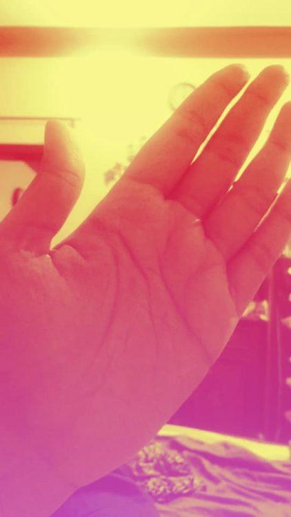 picture of red hand