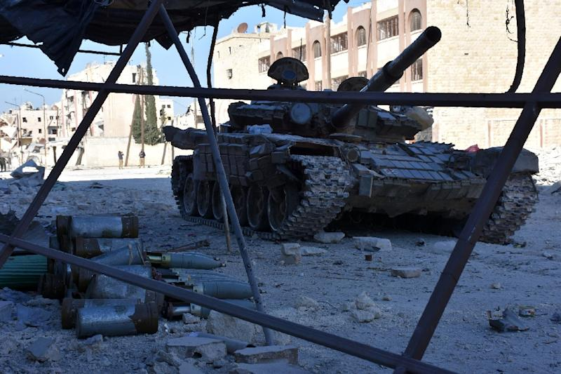Syrian forces advance into the Masaken Hanano district of  eastern Aleppo
