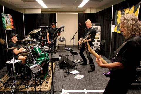 Rolling Stone goes backstage for a look at Metallica's biggest tour yet, on which they're supporting the platinum 'Hardwired ... to Self-Destruct.'
