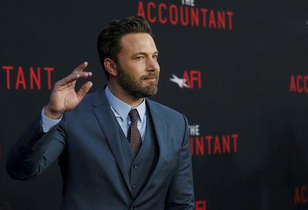 """Cast member Affleck poses at the premiere of """"The Accountant"""" at the TCL Chinese theatre in Hollywood"""