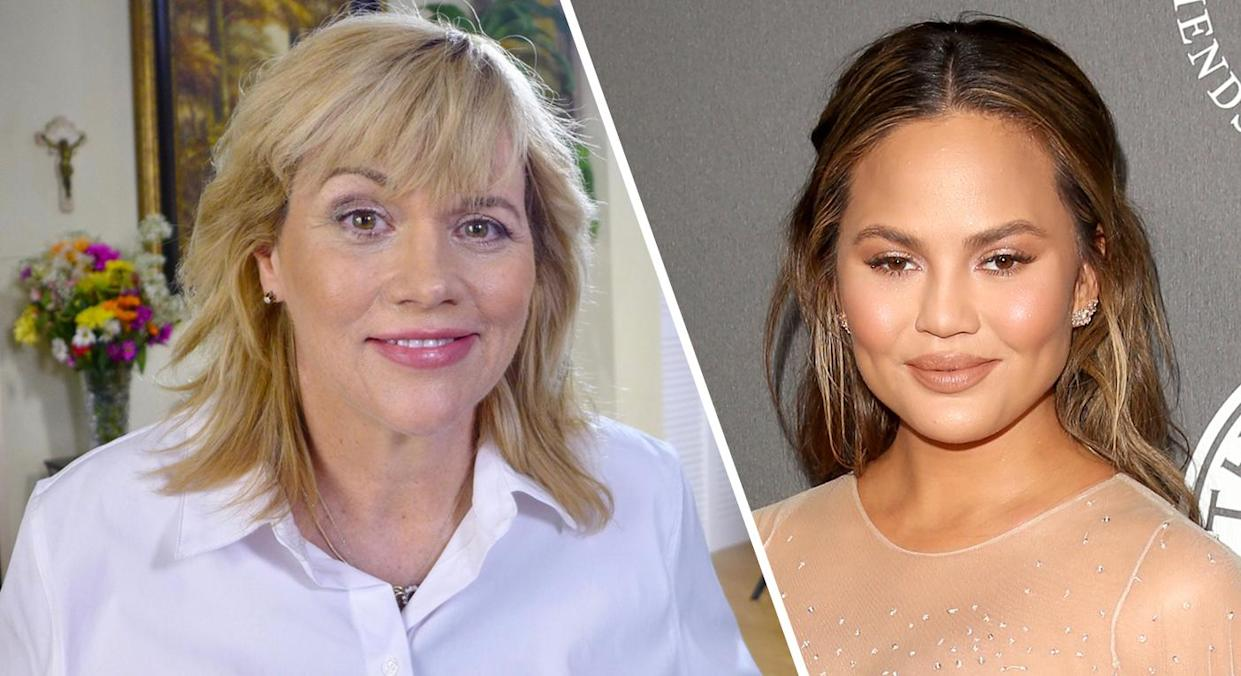 Samantha Markle (left) confronts Chrissy Teigen (right) over father's recent interviews [Photos: Getty]