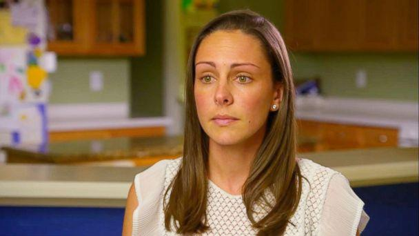 PHOTO: Kaitlin Hill speaks out in an interview with 'Good Morning America' after her 3-year-old son broke his femur bone at a local trampoline park. (ABC News)