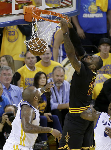 LeBron was nearly unstoppable in Game 5. (AP)