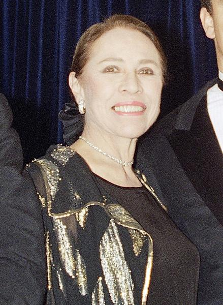 """FILE - This Oct. 3, 1994 file photo shows former ballerina Maria Tallchief Paschen at the Princess Grace Foundation-USA 11th Annual Princess Grace Awards in New York. Tallchief died Thursday, April 11, 2013, in Chicago at the age of 88. Tallchief joined the company that would become the New York City Ballet in 1948. She was married for a time to George Balanchine, who founded the School of American Ballet in New York. Tallchief worked with Balanchine on such masterpieces as 1949's """"Firebird"""" and his now-historic version of """"The Nutcracker."""" (AP Photo/Monika Graff, file)"""