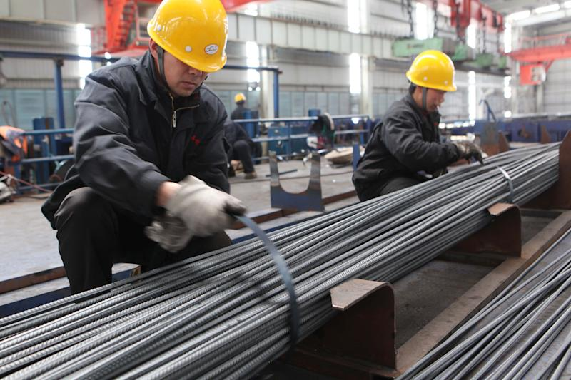 China April steel output up 4.9 percent, hits record: stats bureau