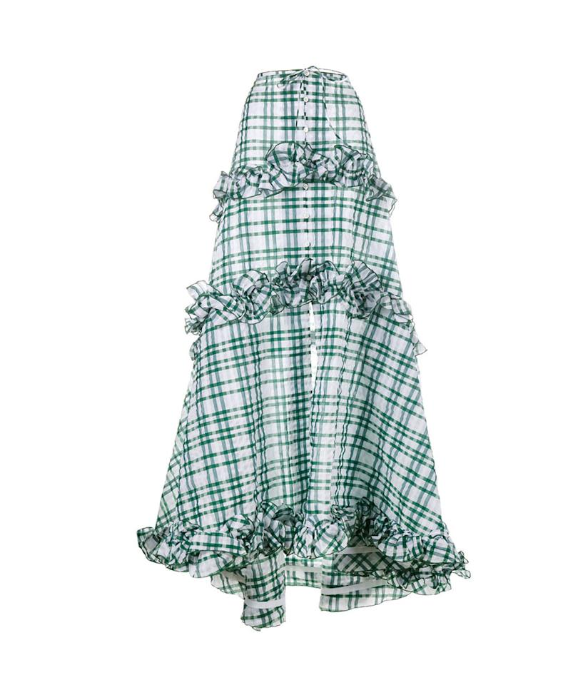 "<p>Ruffle gingham tiered skirt, $3,595, <a rel=""nofollow"" href=""https://www.farfetch.com/shopping/women/rosie-assoulin-ruffle-gingham-tiered-skirt--item-11881911.aspx?fsb=1&storeid=9359&size=19&utm_source=polyvore.com&utm_medium=affiliate&utm_campaign=ZYTUS_desktop"">farfetch.com</a> </p>"