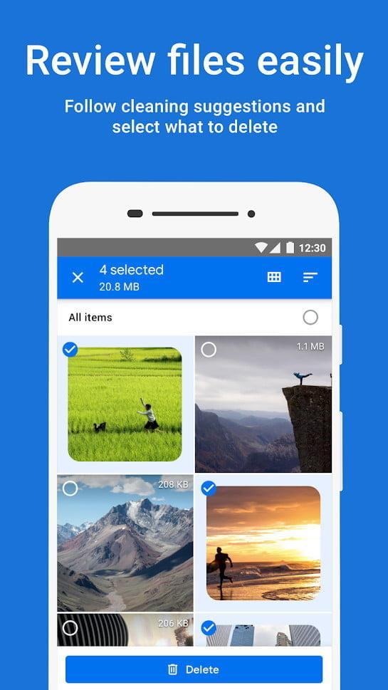 mejores apps android google files 2