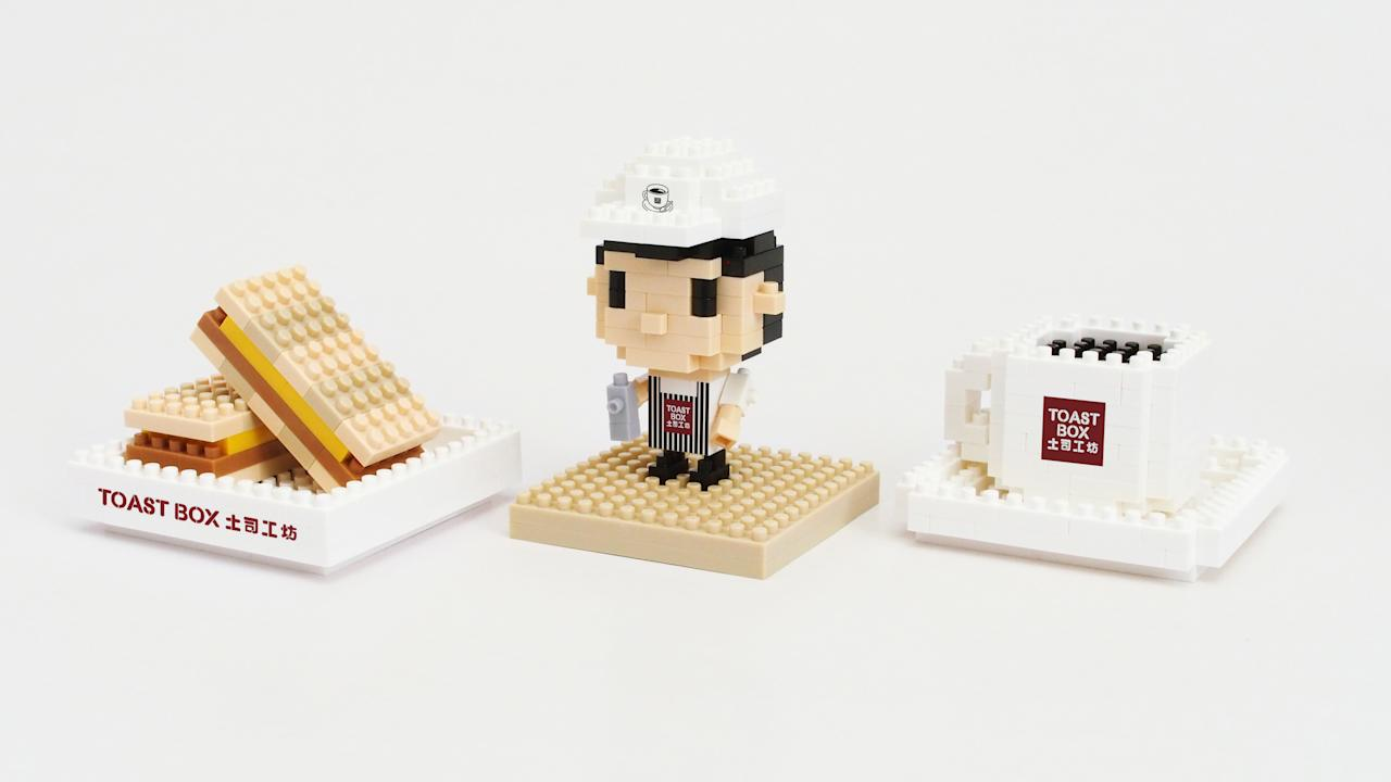 <p>For anyone and everyone – Toast Box limited edition Tiny Blocks collectibles in Nanyang Kopi, Kaya Toast and Kopi Master ($12 per design, or $30 for a full set of the three designs)</p>