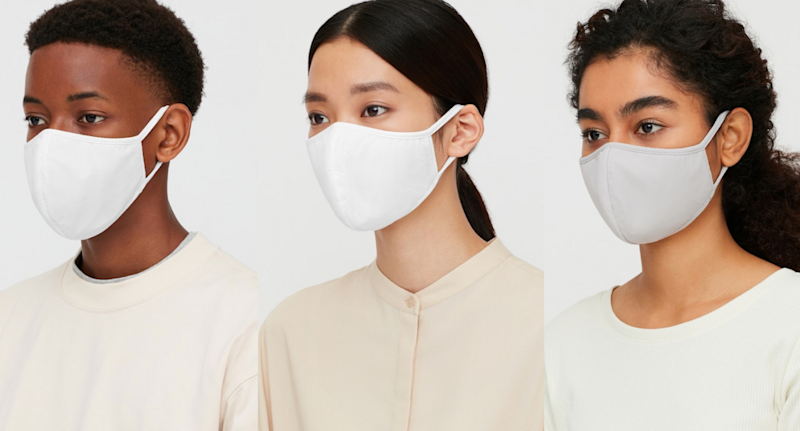 AIRism Face Masks are now available to shop. Images via Uniqlo.