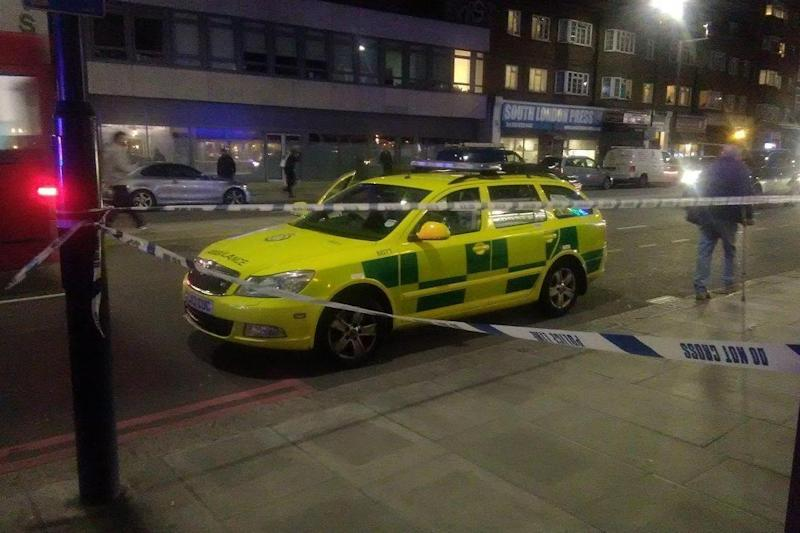 Emergency services vehicles descended on Streatham High Road on Tuesday evening (Spectrum Sino Radio)