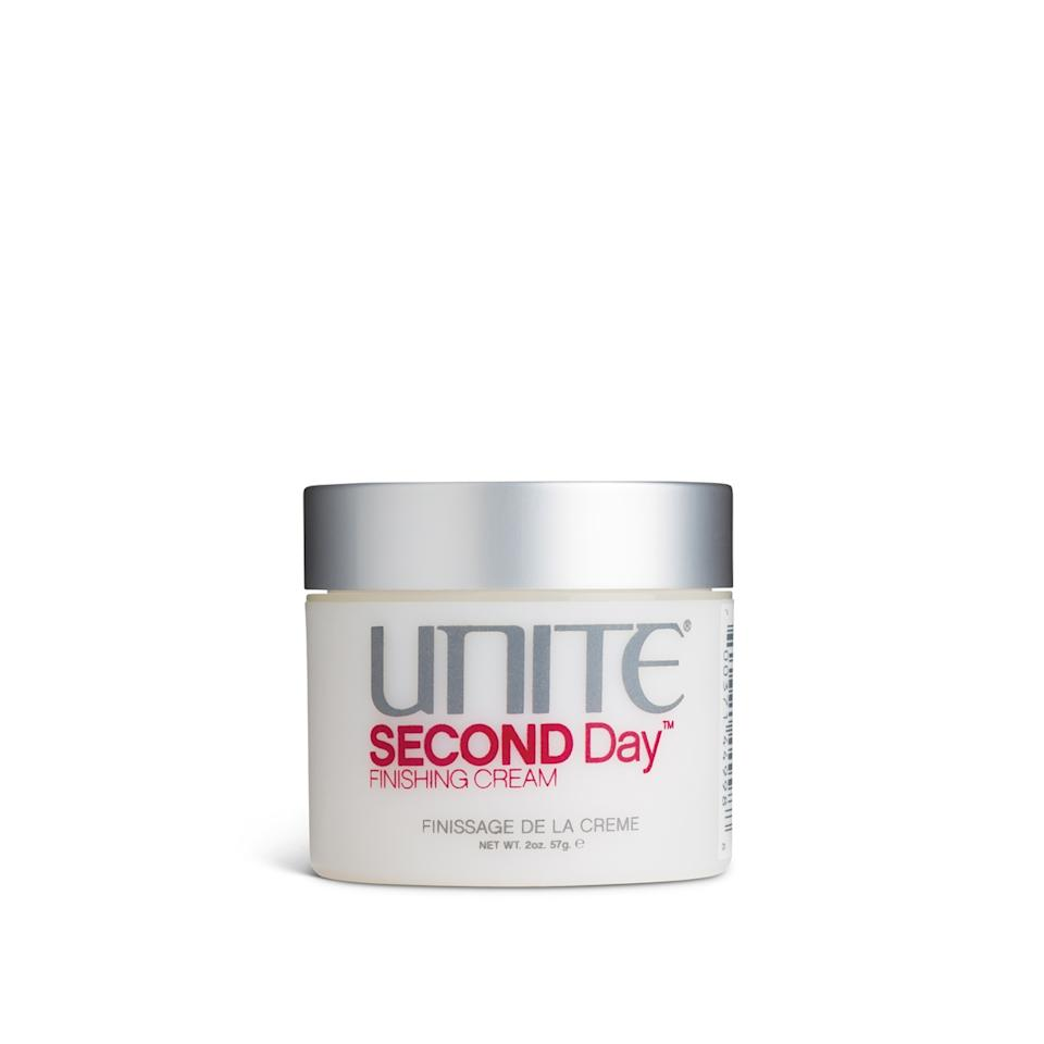"<h3><strong>Product Pick: Unite Second Day Finishing Cream</strong></h3><br>""If you rake a little bit through your mid-lengths and ends, it will give your hair that 'second-day' texture and grit that works nicely with the shape,"" says Nation."