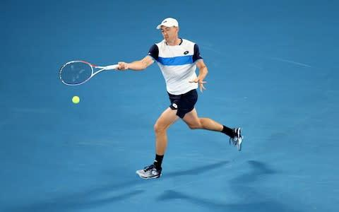 <span>Millman pushes on against Federer</span> <span>Credit: GETTY IMAGES </span>