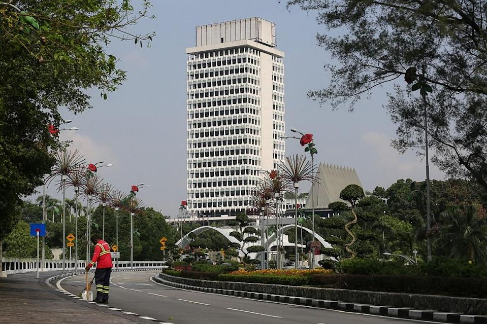 A general view of the Parliament building in Kuala Lumpur March 19, 2021. ― Picture by Yusof Mat Isa