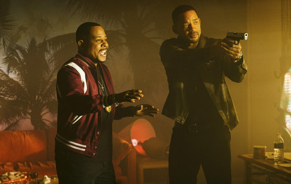 """This image released by Sony Pictures shows Martin Lawrence, left, and Will Smith in a scene from """"Bad Boys for Life."""" (Ben Rothstein/Columbia Pictures-Sony via AP)"""