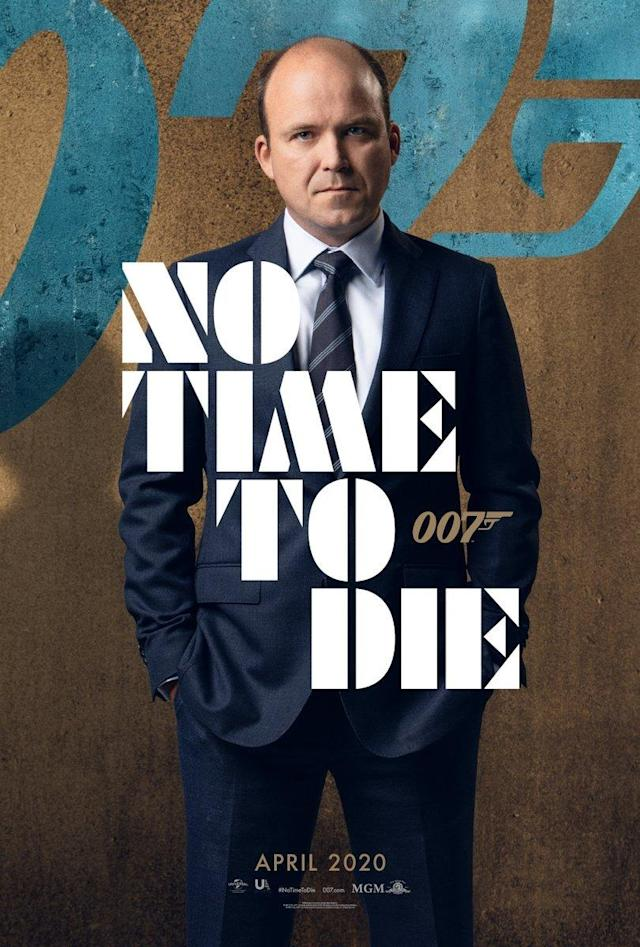 Rory Kinnear as MI6 Chief of Staff Bill Tanner on a character poster for No Time To Die. (Eon/Universal)