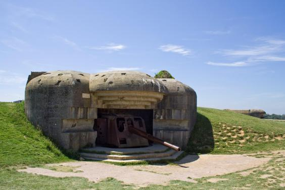 The German battery sits high between Gold and Omaha beaches (A Solter Normandy Tourism)