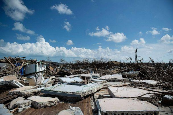 PHOTO: Damaged buildings left by Hurricane Dorian in Marsh Harbor on Great Ababco, Bahamas, Sept. 5, 2019. (Brendan Smialowski/AFP/Getty Images)