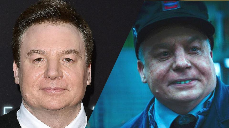 <p>Mike Myers is almost unrecognisable as Clinton in <em>Terminal</em>. </p>