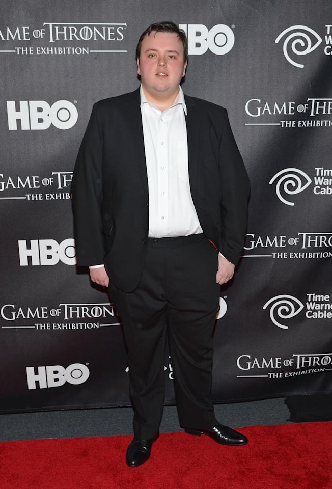 "NEW YORK, NY - MARCH 27:  Actor John Bradley attends ""Game Of Thrones"" The Exhibition New York Opening at 3 West 57th Avenue on March 27, 2013 in New York City.  (Photo by Mike Coppola/Getty Images)"