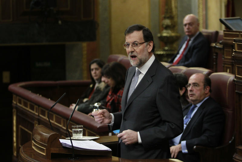 Rajoy says 'Spain's head out of the water'
