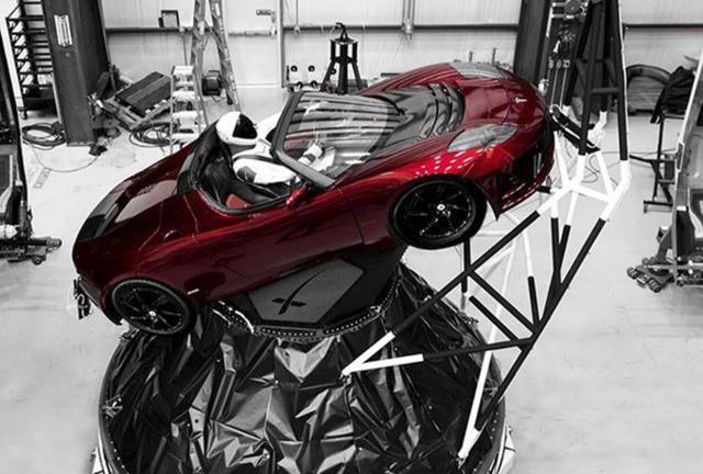 "<p>A mannequin ""Starman"" sits at the wheel of a Tesla Roadster in this photo posted on the Instagram account of Elon Musk, head of auto company Tesla and founder of the private space company SpaceX. The car will be on board when SpaceX launches its new rocket, the Falcon Heavy, from Kennedy Space Center at Cape Canaveral, Fla., scheduled for Tuesday, Feb. 6, 2018. (Photo: Elon Musk/Instagram via AP) </p>"