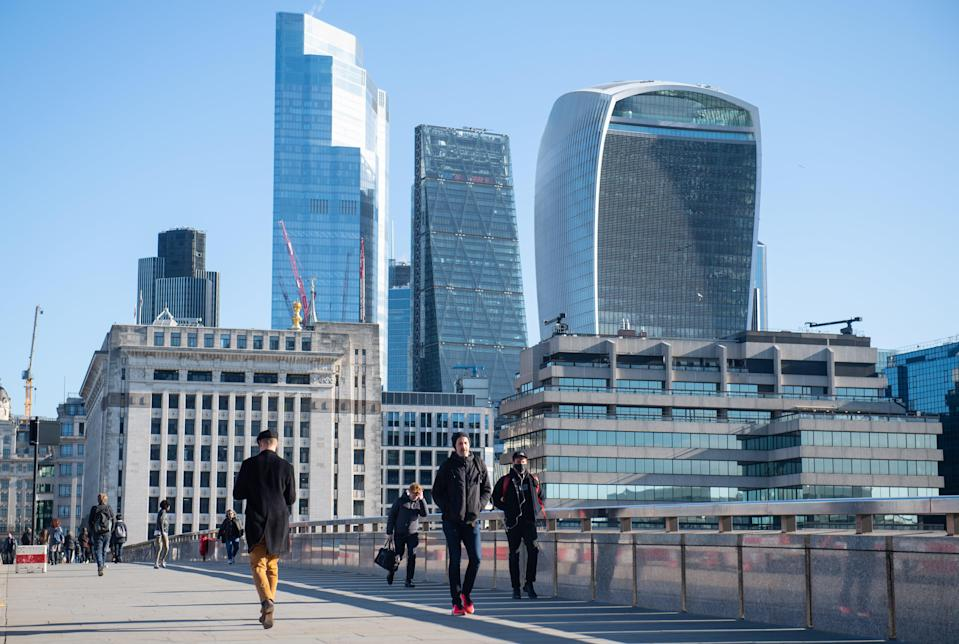<p>Robots vs humans in the City</p> (PA Wire)