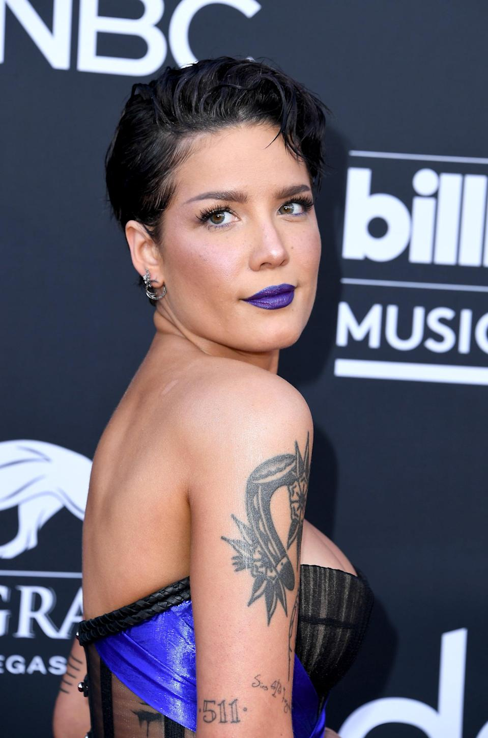"<p>The ""511"" on the back of Halsey's arm is for her little brother's birthday. </p>"