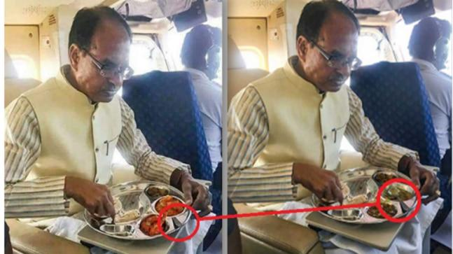 "Madhya Pradesh Chief Minister Shivraj Singh Chouhan was criticised by netizens for ""secretly feasting on non-vegetarian food while publicly claiming to be a staunch Hindu""."