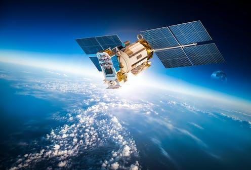 "<span class=""caption"">Satellites affect your life every day.</span> <span class=""attribution""><a class=""link rapid-noclick-resp"" href=""https://www.shutterstock.com/image-photo/space-satellite-orbiting-earth-elements-this-363654452"" rel=""nofollow noopener"" target=""_blank"" data-ylk=""slk:Shutterstock"">Shutterstock</a></span>"
