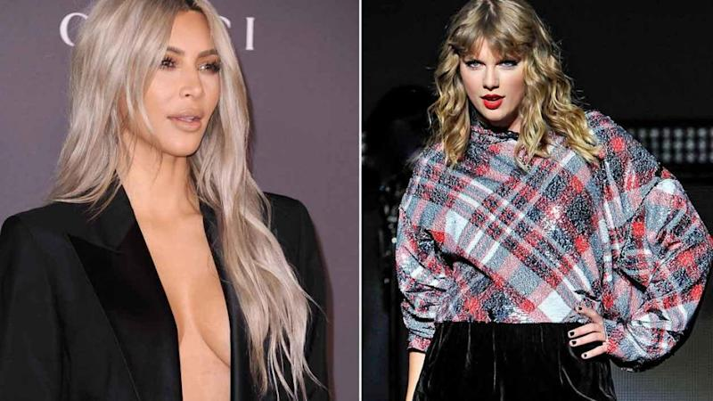 The gloves are back off between Kim Kardashian and Taylor Swift. Source: Getty