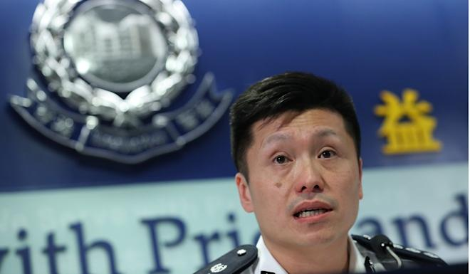 Chief superintendent John Tse said protesters targeted the court because they were unhappy with a ruling that rejected a student leader's bid to bar officers from campus. Photo: Sam Tsang
