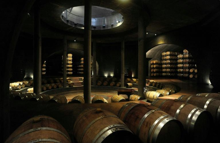 An underground wine cellar at the Bodega Salentein in the Uco Valley, Mendoza, Argentina