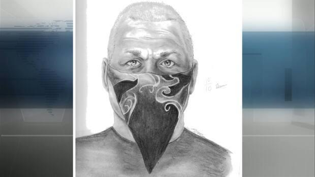 The St. Albert RCMP have released a composite sketch of the male suspect in a daytime attack on two women wearing hijabs last week. The incident is being investigated as a hate-motivated crime. (Submitted by St. Albert RCMP - image credit)