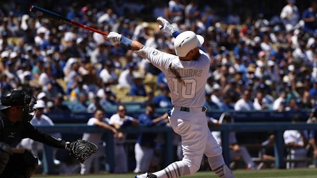 Justin Turner blasted a two-run homer in the third inning to bring in the Los Angeles Dodgers' only runs of the contest.
