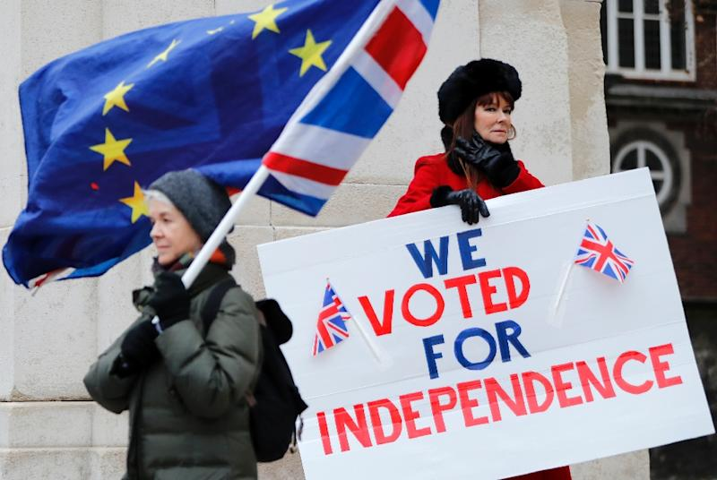 "Brexit supporters would be deeply opposed to a delay motivated by a desire ""to go away and have a referendum or a general election or softer Brexit"", said pollster John Curtice (AFP Photo/Tolga AKMEN)"