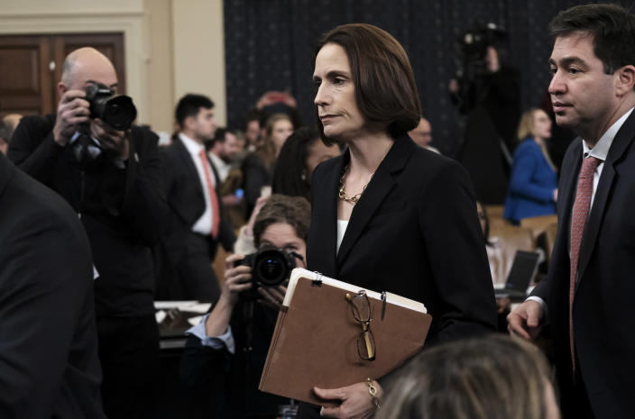 Fiona Hill, former top Russia adviser to the White House, departs after providing testimony in the impeachment inquiry on Nov. 21. (Photo: Bonnie Jo Mount/The Washington Post)