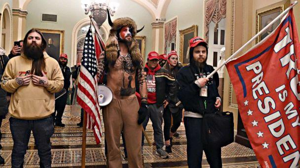 PHOTO: Rioters enter the U.S. Capitol after breaching security on Jan. 6, 2021, in Washington, D.C. (Saul Loeb/AFP via Getty Images)