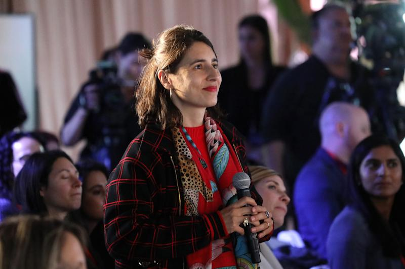 Artist Prune Nourry speaks from the audience during the TIME 100 Health Summit at Pier 17 in New York City on Oct. 17, 2019. | Brian Ach—Getty Images for TIME 100 Health