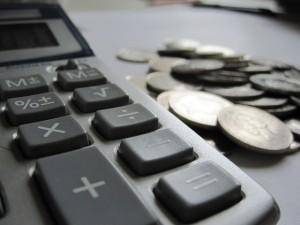 Calculator and coins