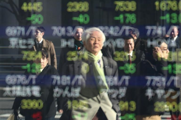Tokyo stocks fell while other Asian markets were closed (AFP Photo/Behrouz MEHRI)