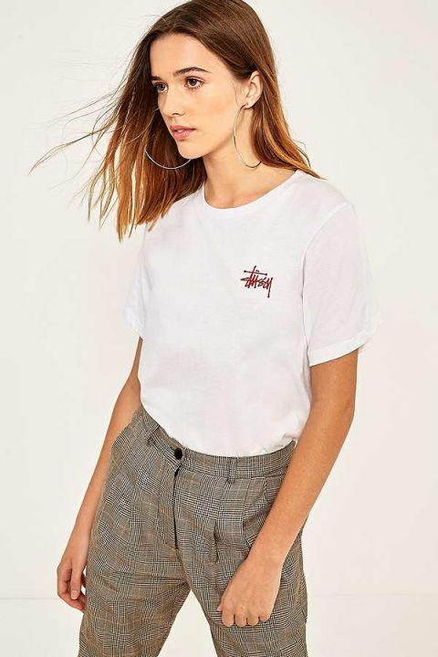 """<p>Stussy Boyfriend Logo T-Shirt. Available at <a href=""""https://www.urbanoutfitters.com/en-gb/shop/stussy-boyfriend-logo-t-shirt?category=womens-graphic-tshirts&color=010"""" rel=""""nofollow noopener"""" target=""""_blank"""" data-ylk=""""slk:Urban Outfitters - £44"""" class=""""link rapid-noclick-resp"""">Urban Outfitters - £44</a></p>"""