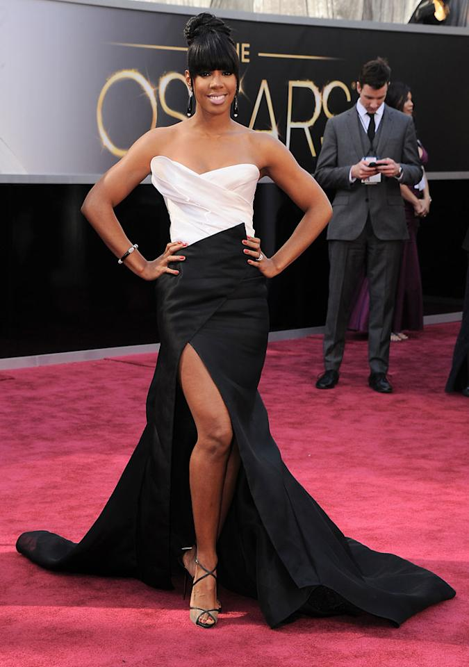 Kelly Rowland arrives at the Oscars at Hollywood & Highland Center on February 24, 2013 in Hollywood, California.
