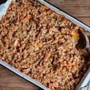"Cubes of pumpkin and apple melt into each other in this cinnamon-spiked, oat- and pecan-topped dessert. <a href=""https://www.epicurious.com/recipes/food/views/apple-and-pumpkin-ginger-crisp-51254240?mbid=synd_yahoo_rss"" rel=""nofollow noopener"" target=""_blank"" data-ylk=""slk:See recipe."" class=""link rapid-noclick-resp"">See recipe.</a>"