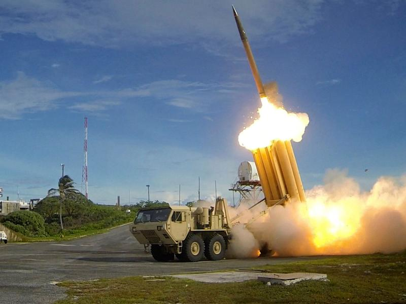The company behind THAAD claims the system has had 100 per cent success intercepting missiles since testing began in 2005: EPA