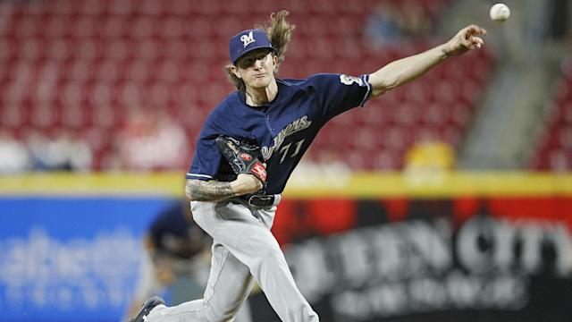 "<a class=""link rapid-noclick-resp"" href=""/mlb/players/10131/"" data-ylk=""slk:Josh Hader"">Josh Hader</a> to baseball: you can't touch this (AP)"